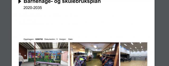 Eit samrøystes formannskap vedtok 08.09.2020 å la rådmannen lage ny framdriftsplan for handsaminga av barnehage- og skulebruksplan. Bjoa bygdeliste er uroa over at prosessen med barnehage- og skulebruksplan går vidare […]